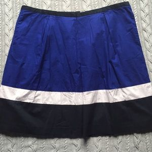 Liz Claiborne Pleated Full Colorblock Skirt